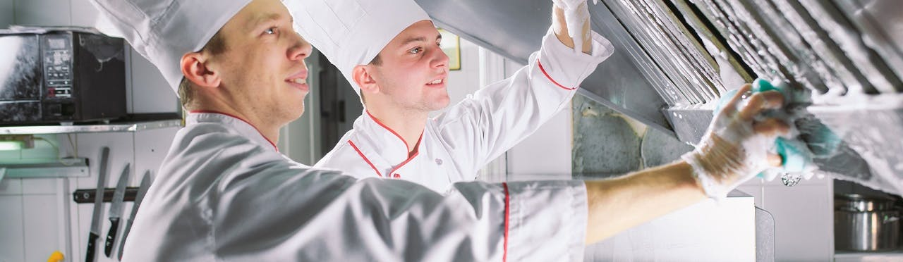 a cooking surface properly sanitized